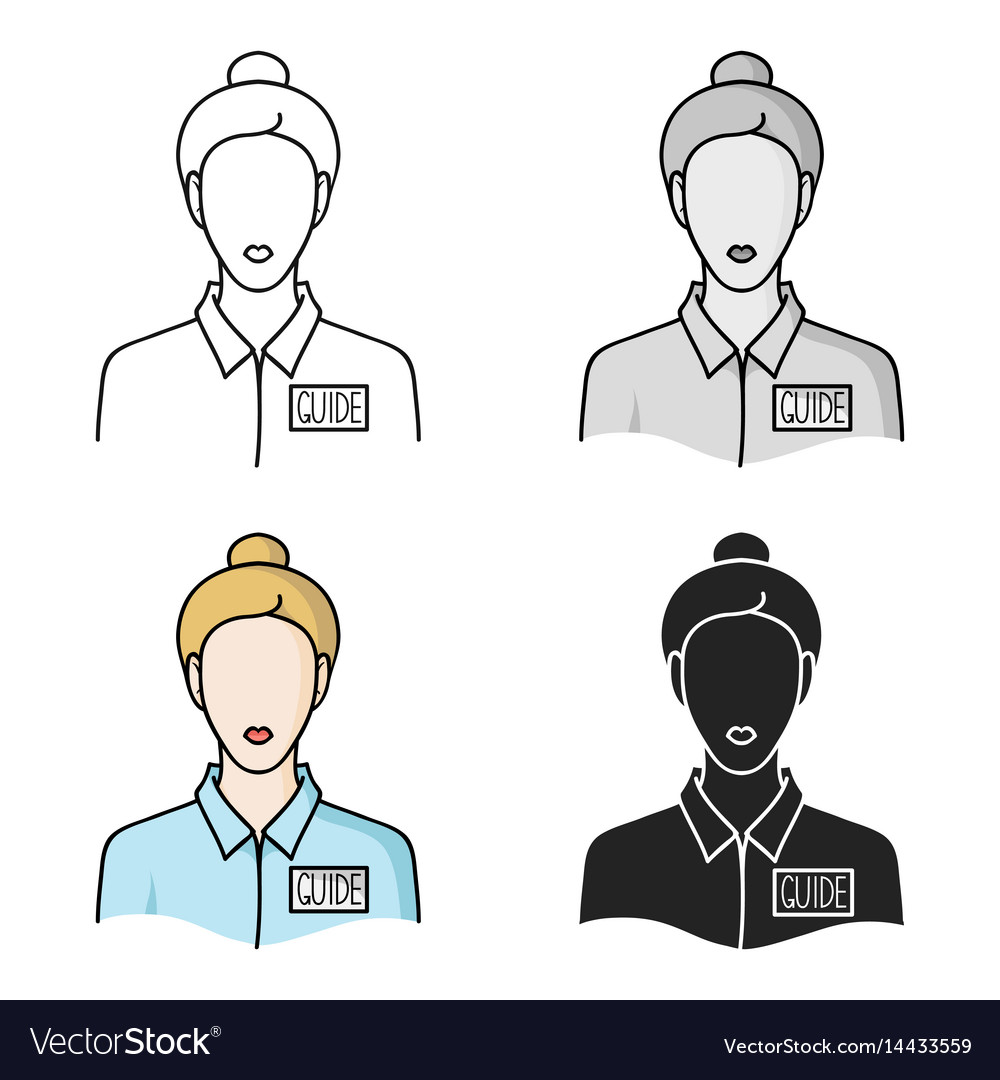Museum guide icon in cartoon style isolated on vector image