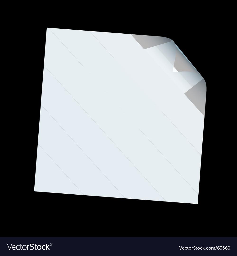 Square paper curl vector image