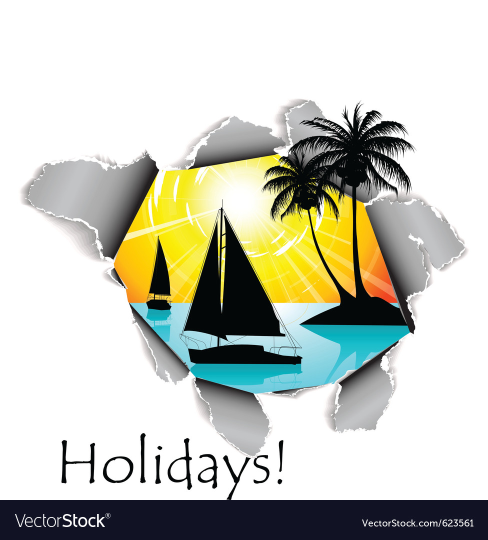 Holidays dimension vector image
