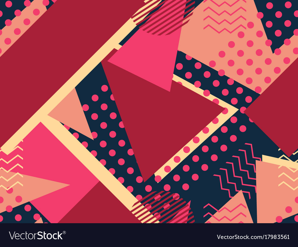 Memphis seamless pattern geometric elements vector image