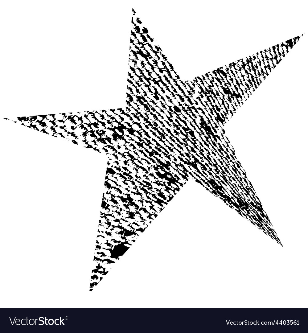 Original Grunge Star vector image