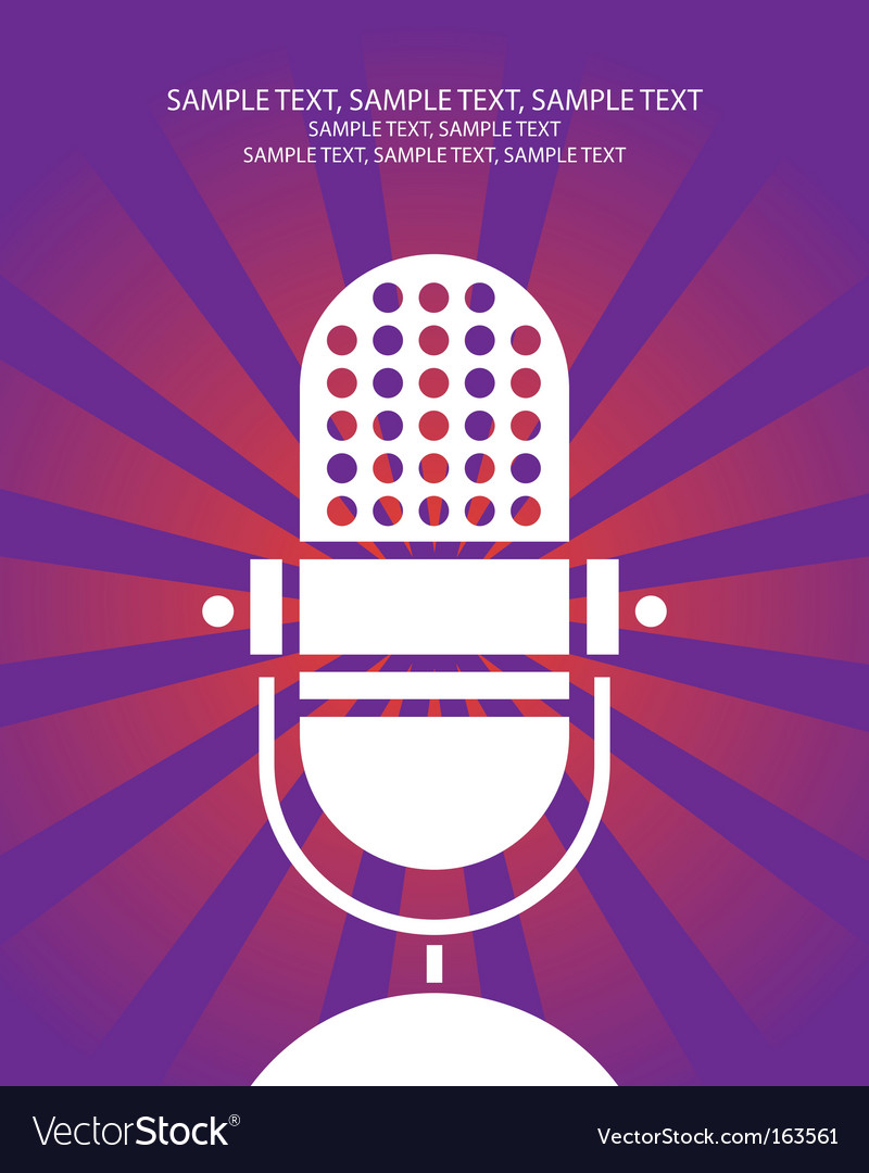 Retro microphone poster vector image