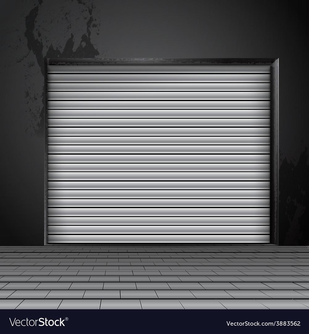 Roller Shutter Door Royalty Free Vector Image Vectorstock
