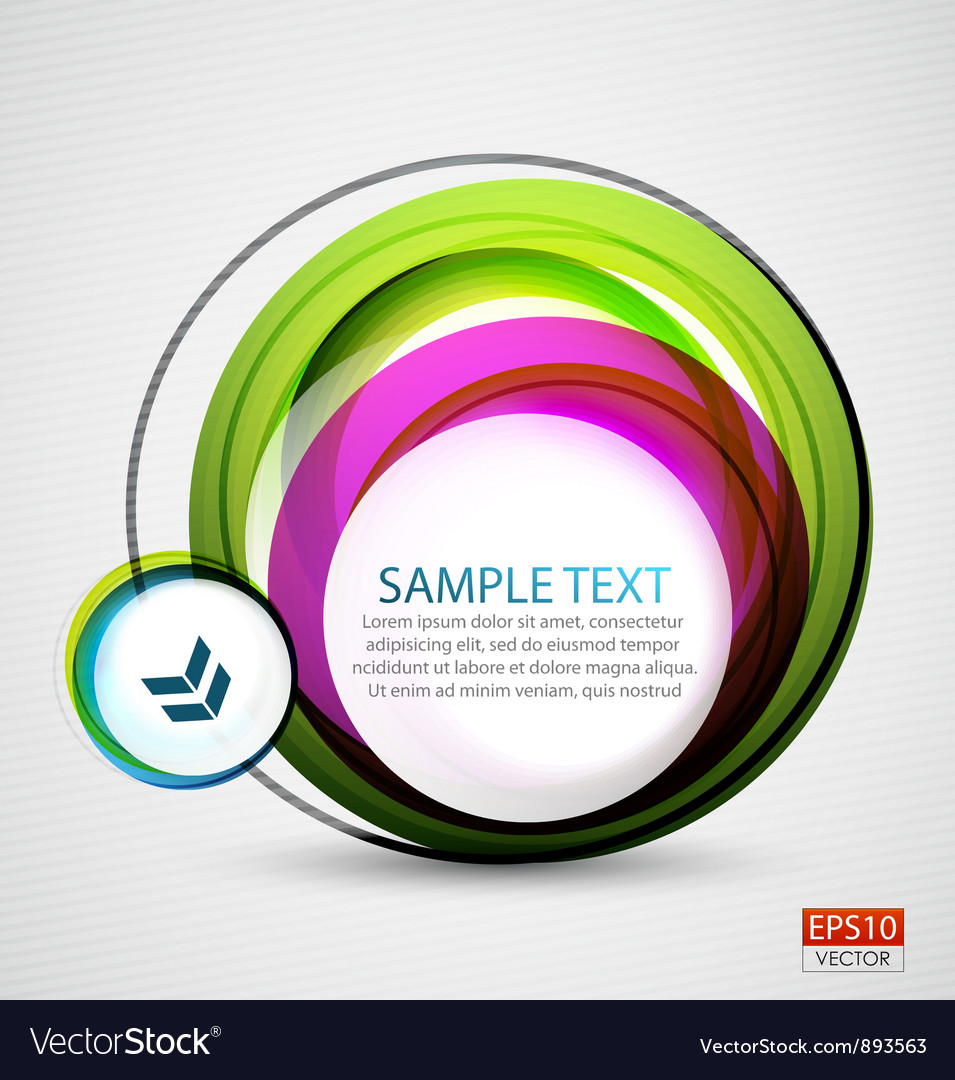 Abstract colorful swirl banner vector image
