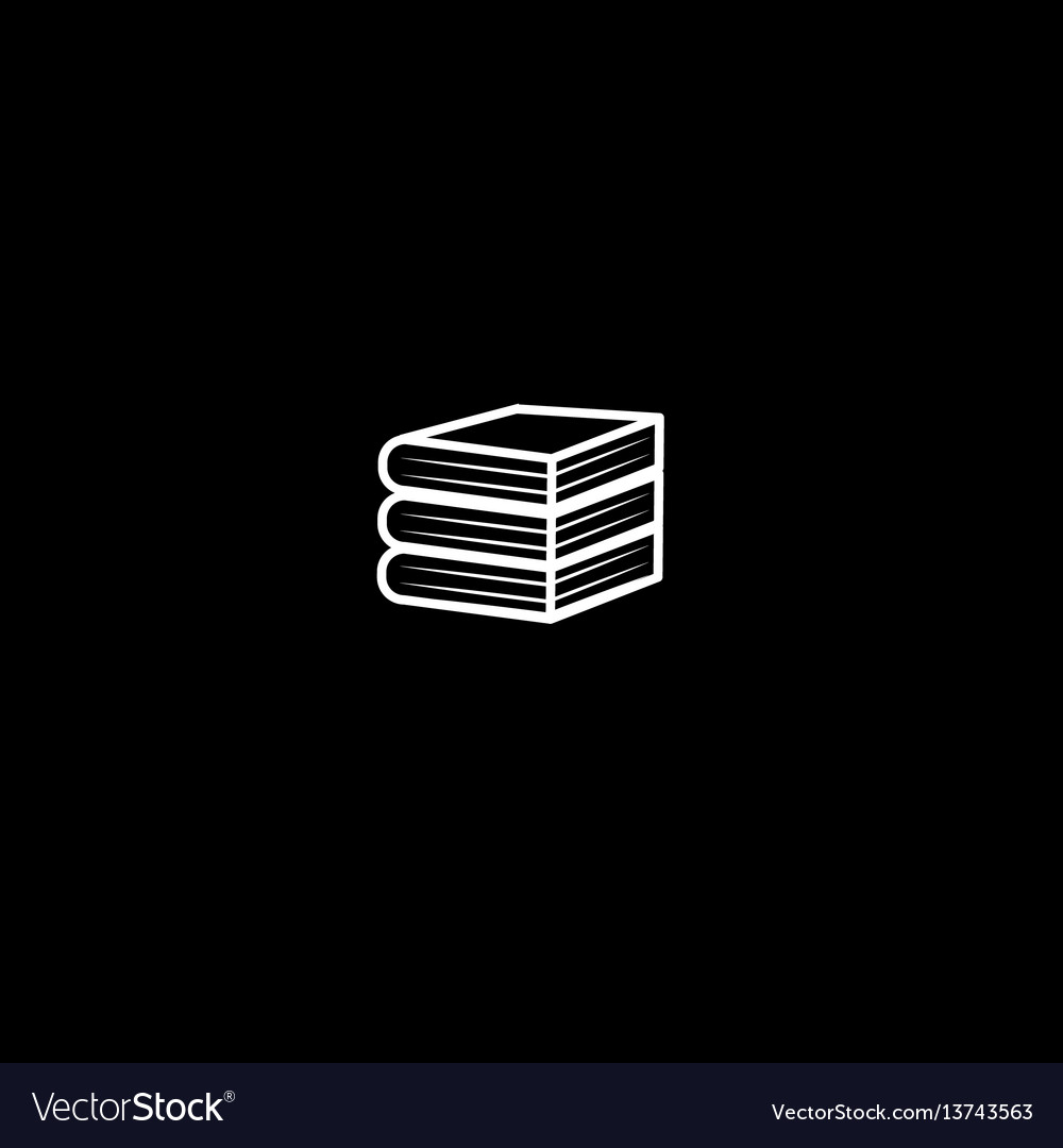 Minimalistic icon stack of thick books vector image