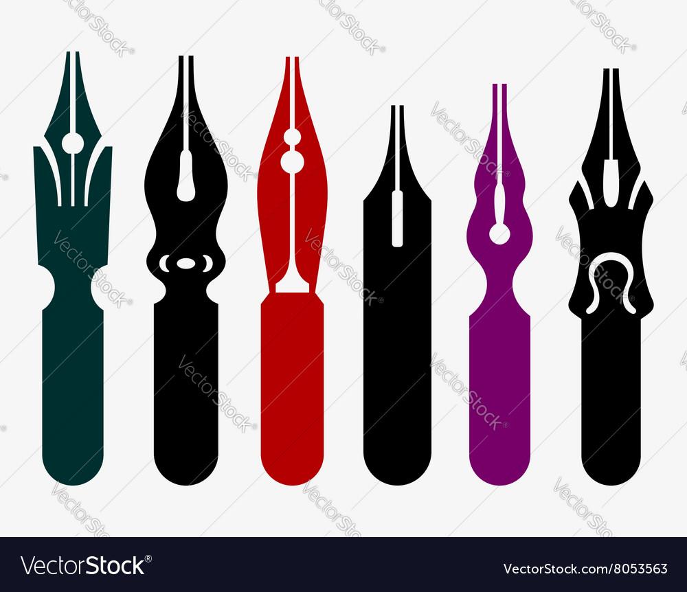Pen nibs vector image