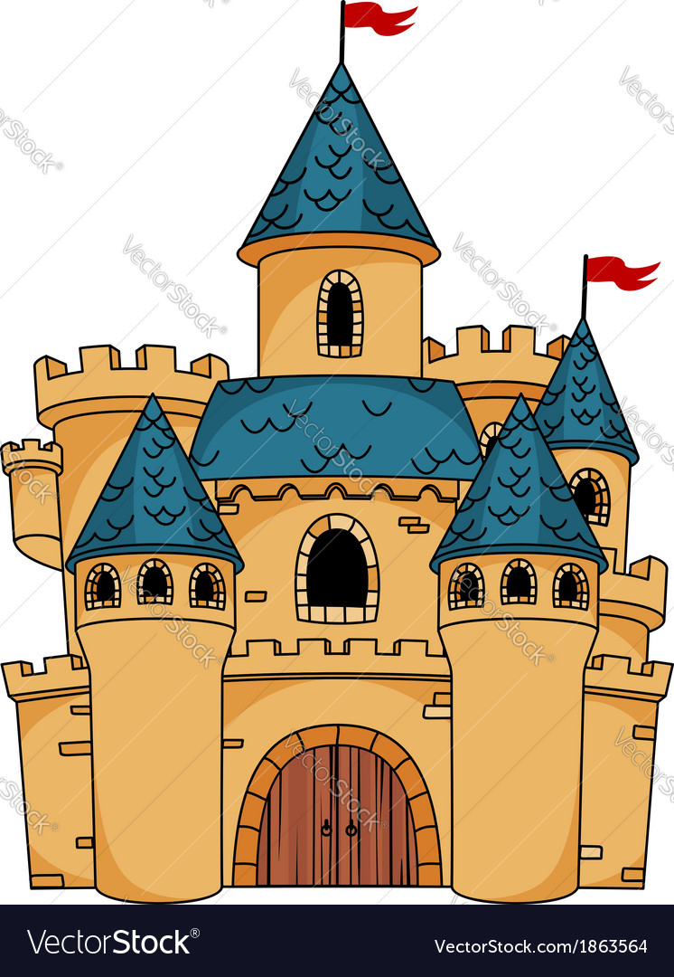 Medieval cartoon castle vector image