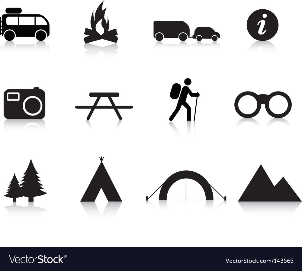 Camping logos vector image
