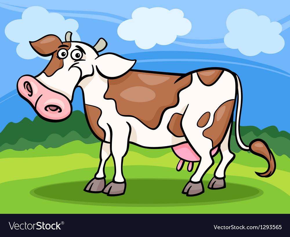 cow farm animal cartoon royalty free vector image