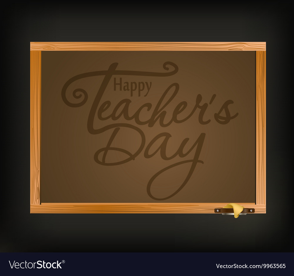 Happy teachers day greeting card teachers day vector image kristyandbryce Image collections