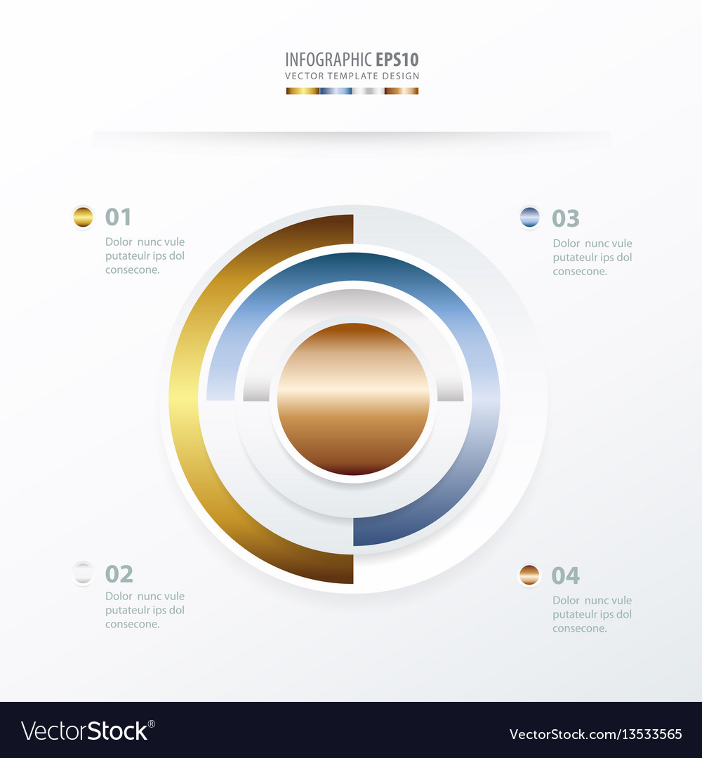 Pie chart infographics gold color style royalty free vector pie chart infographics gold color style vector image nvjuhfo Image collections
