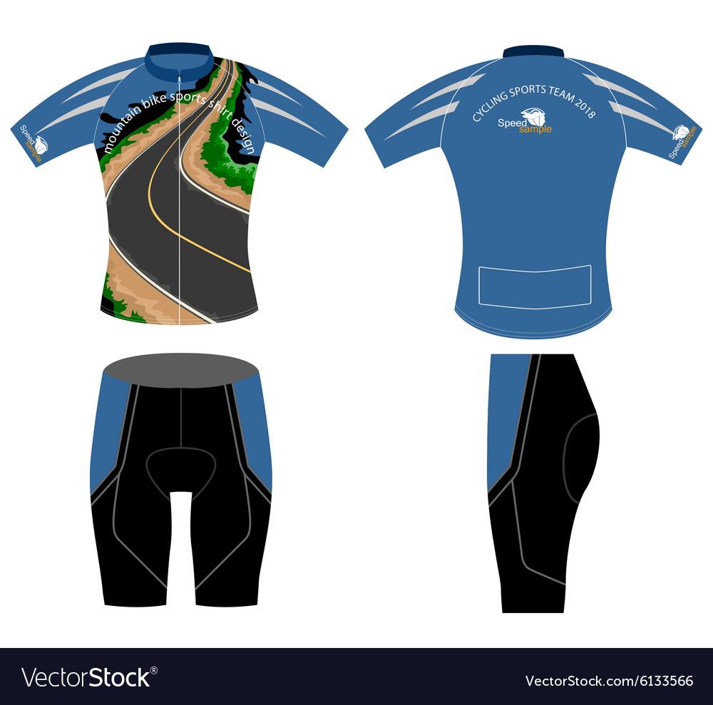 Shirt uniform design vector - Cycling Shirt Design Vector Image