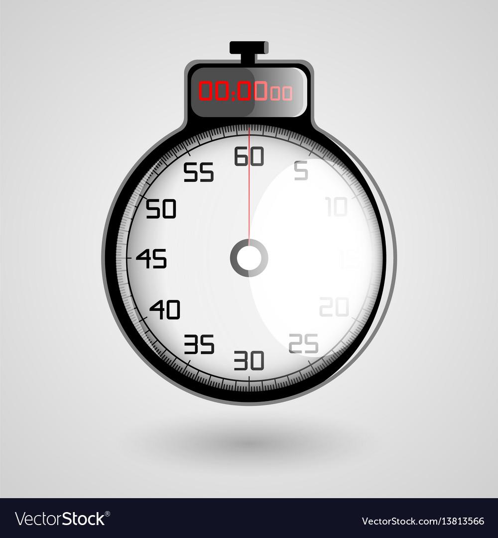Digital 3d stopwatch vector image