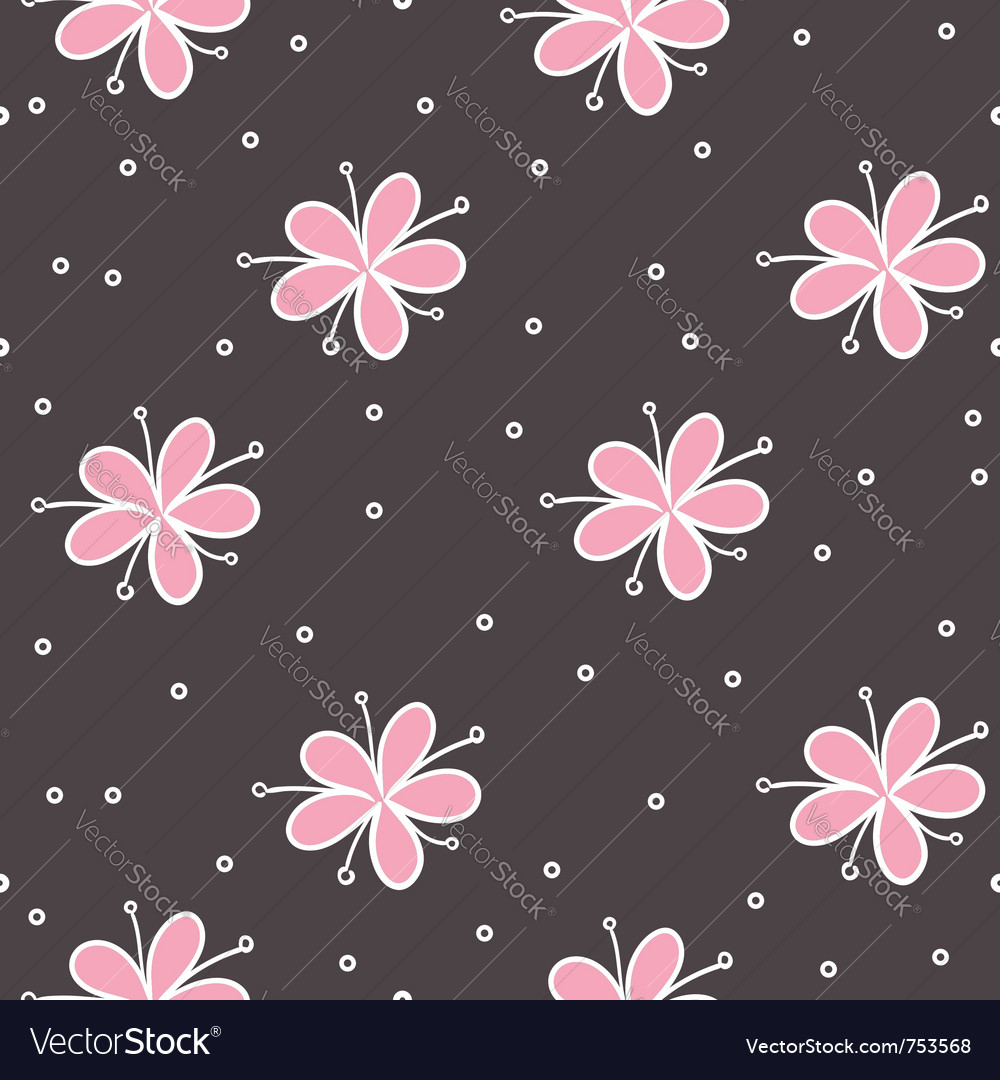 Flower seamless vector image
