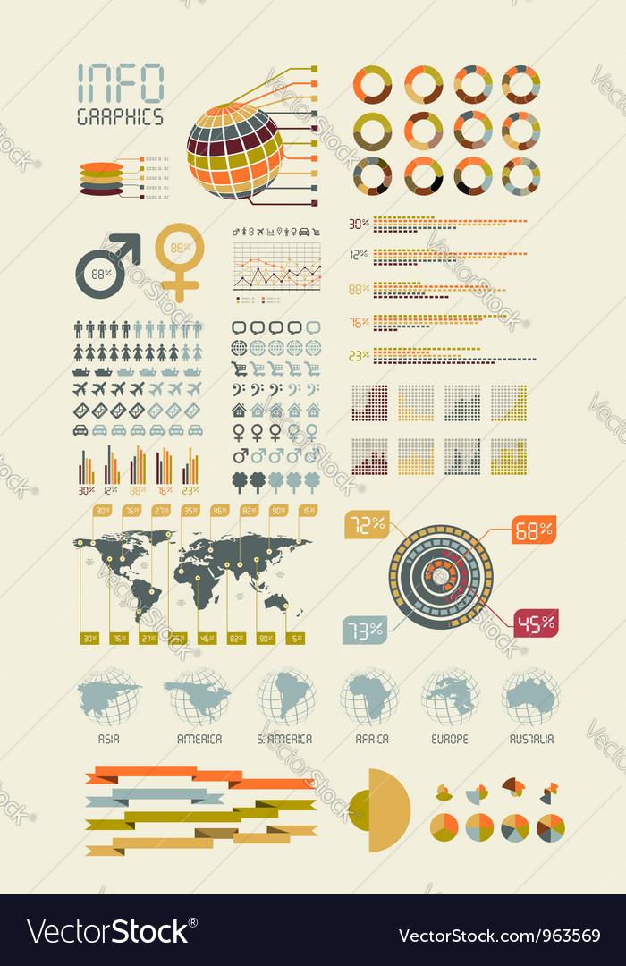 Detail infographic vector image