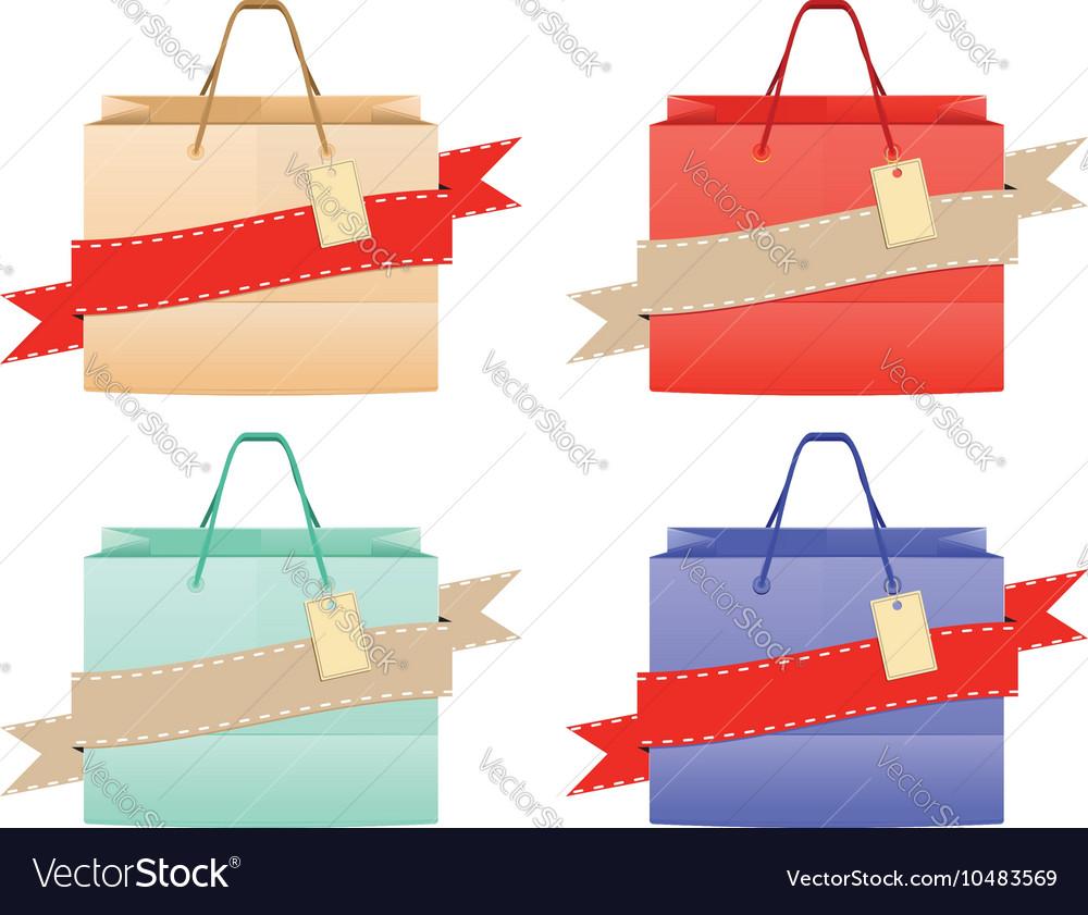 Shopping Bag Design5 vector image