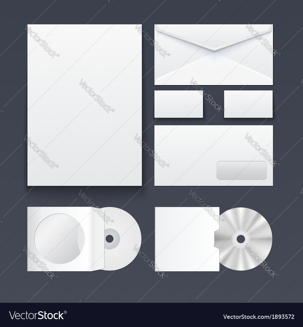 Corporate identity templates blank business cards Vector Image