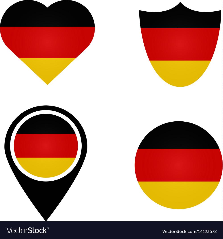 German flag symbols in heart shield circle vector image german flag symbols in heart shield circle vector image buycottarizona