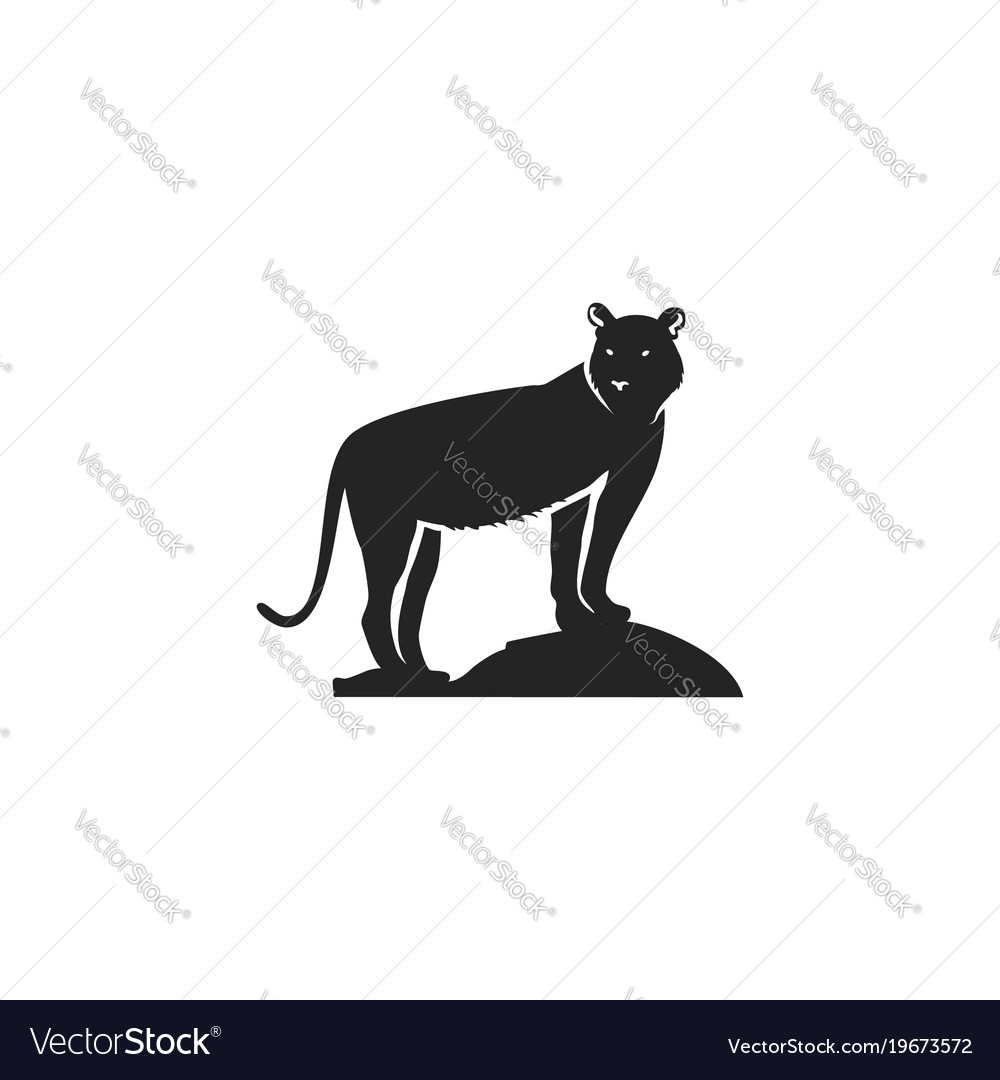 Tiger black icon silhouette symbol of tiger vector image tiger black icon silhouette symbol of tiger vector image biocorpaavc