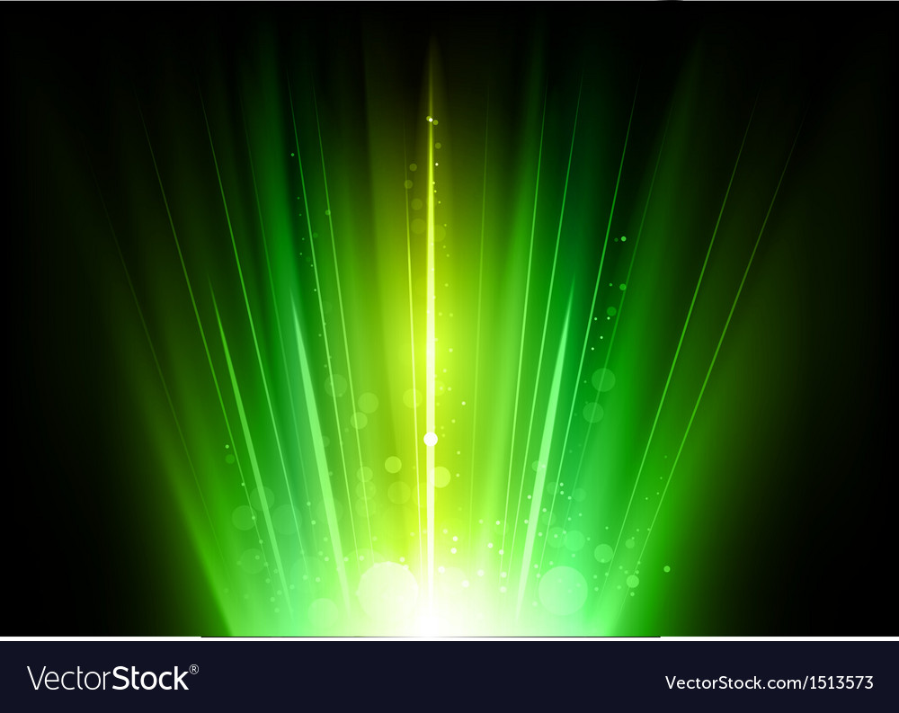 Flare green vector image