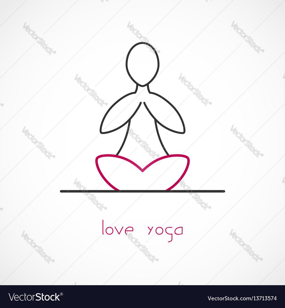 Love yoga vector image