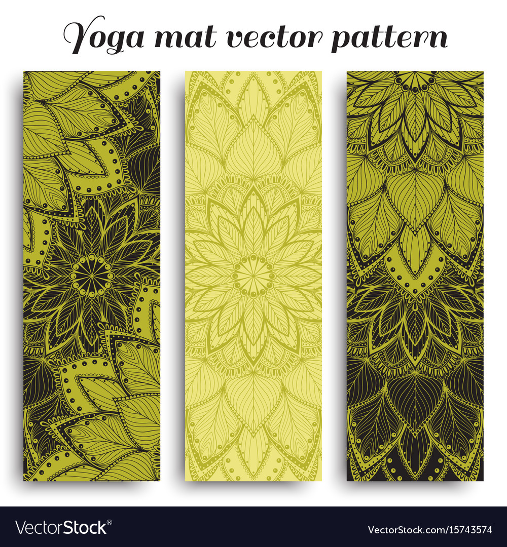 Mat for yoga fitness vector image