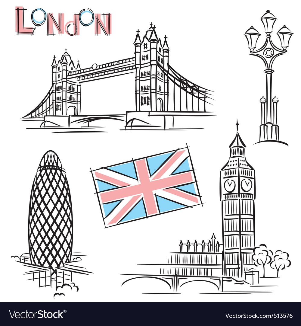 London landmark vector image