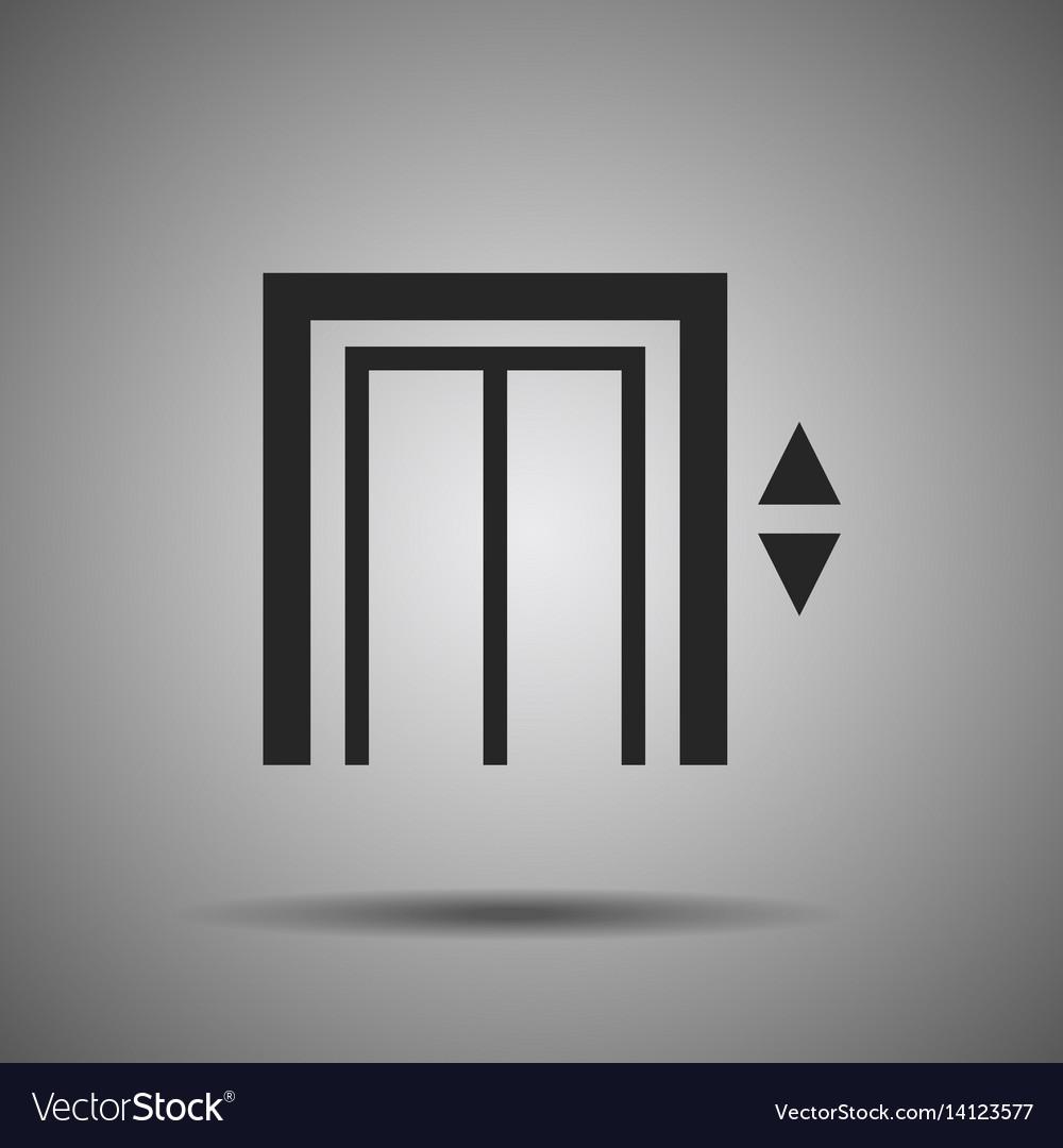 Elevator icon lift symbol vector image
