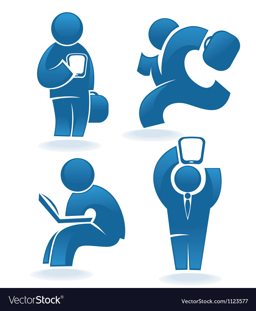 Modern technology business people and computer vector image