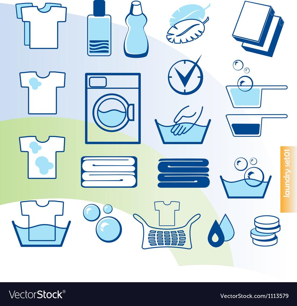 Laundry set Vector Image