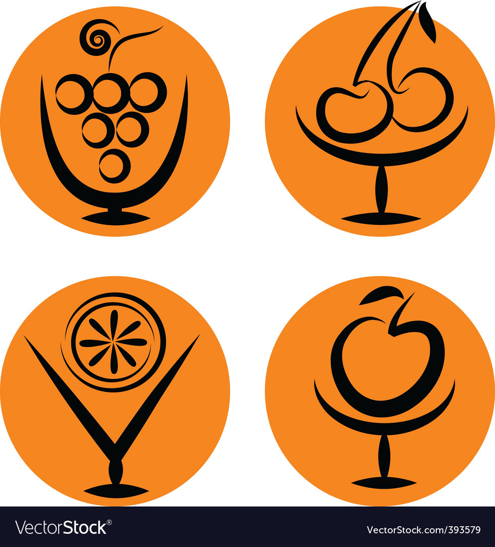 Cocktail and fruits vector image