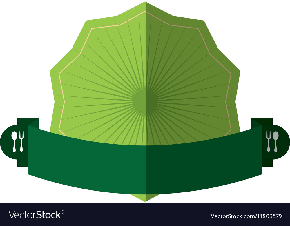 Green badge emblem blank banner vector image