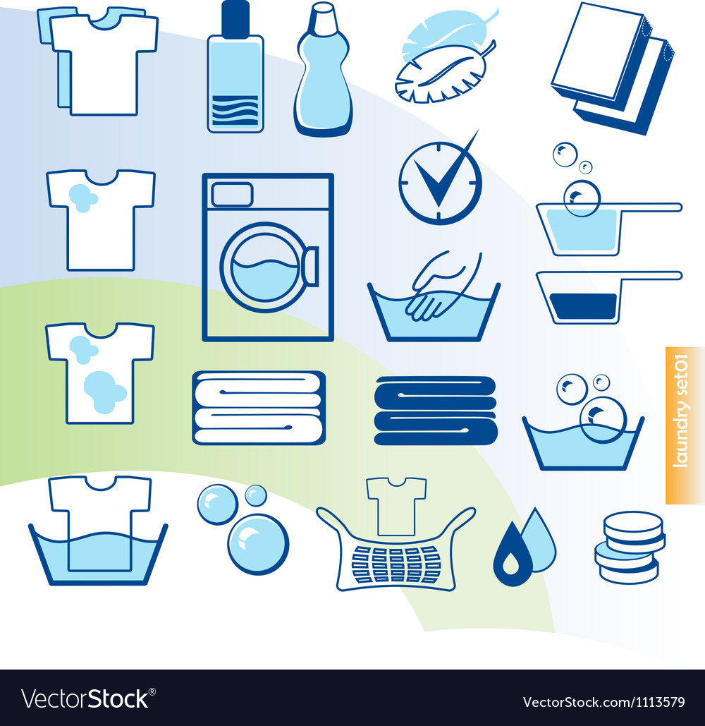 Laundry set vector image