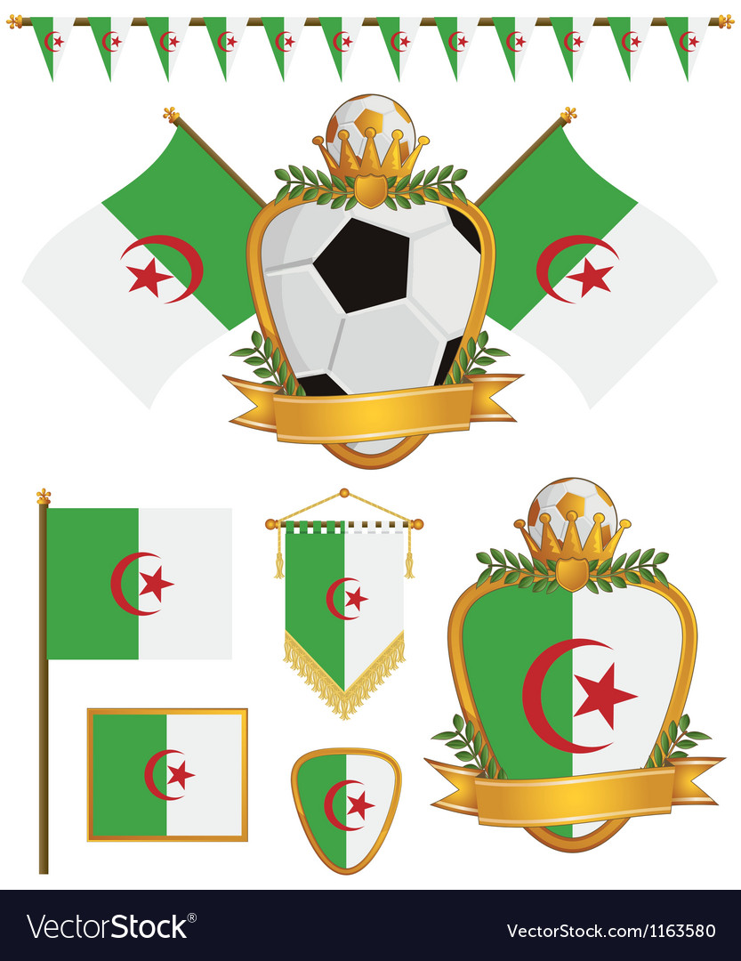 Algeria flags vector image
