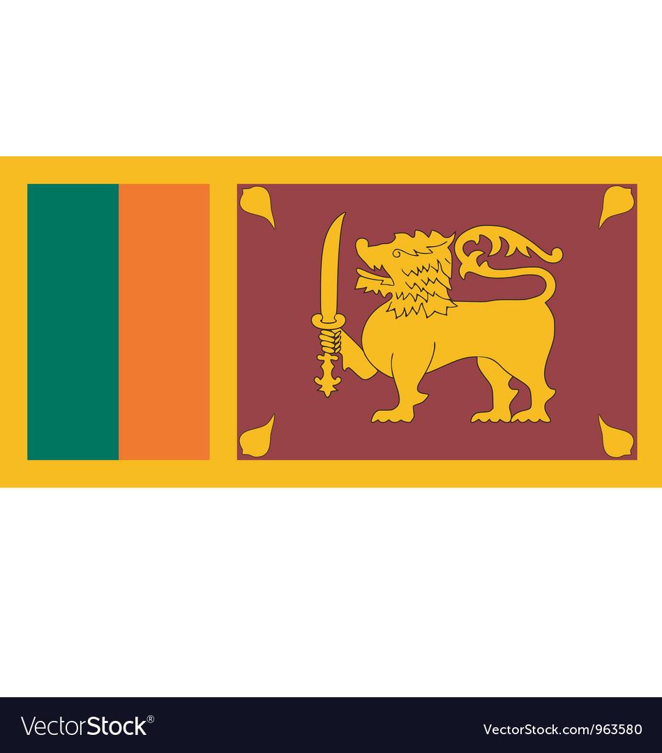 Sri Lankan flag vector image