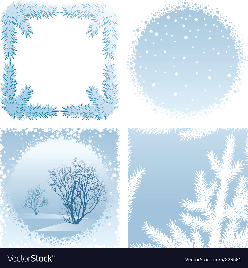 winter frames vector image