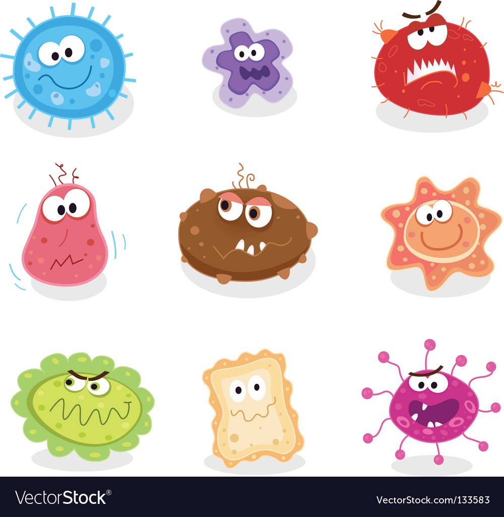 Bugs and germs I vector image