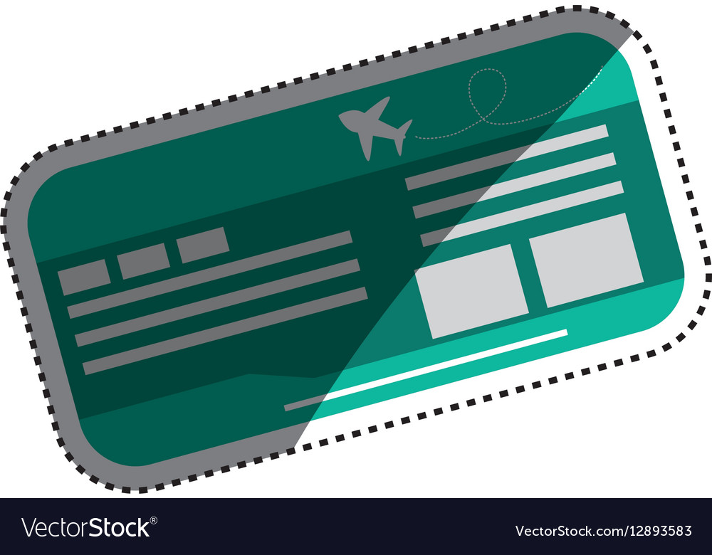 Flight ticket isolated vector image
