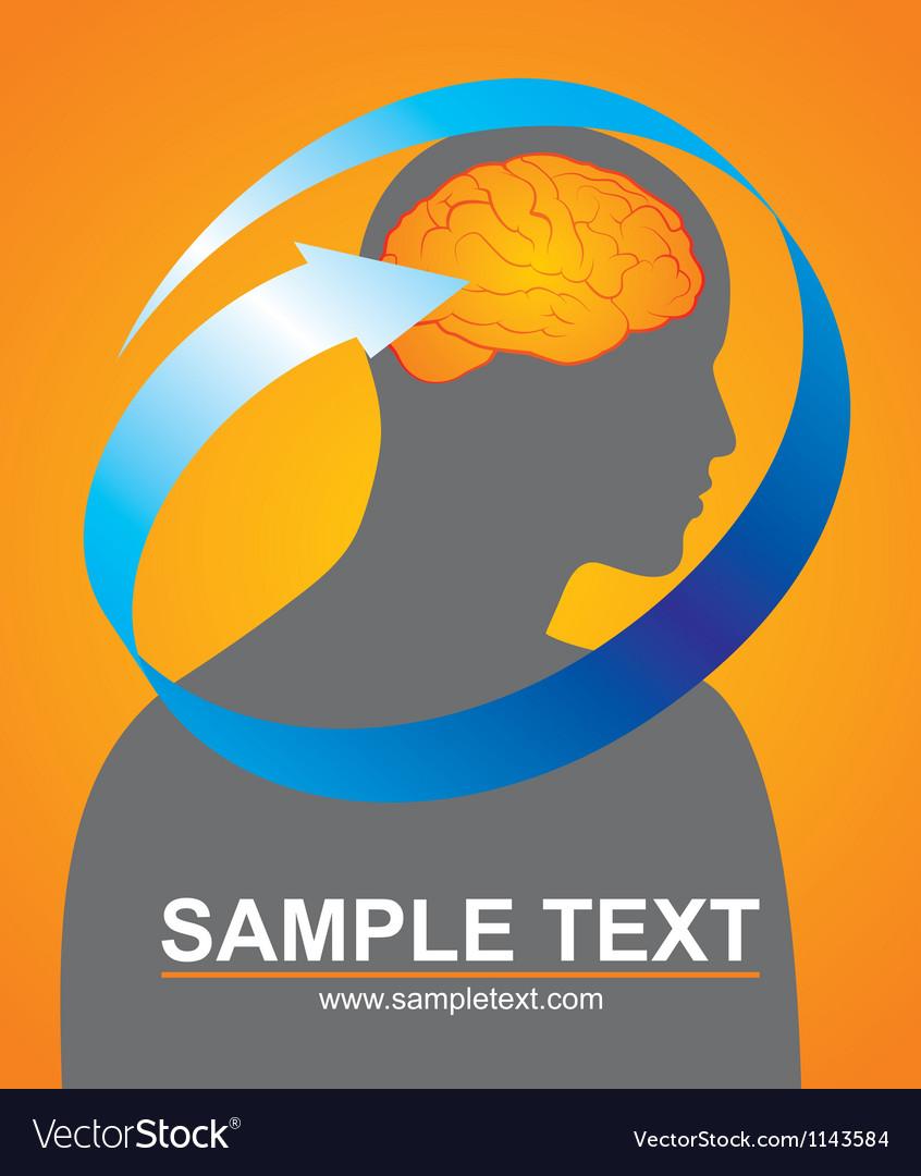 Medicine Head Care vector image