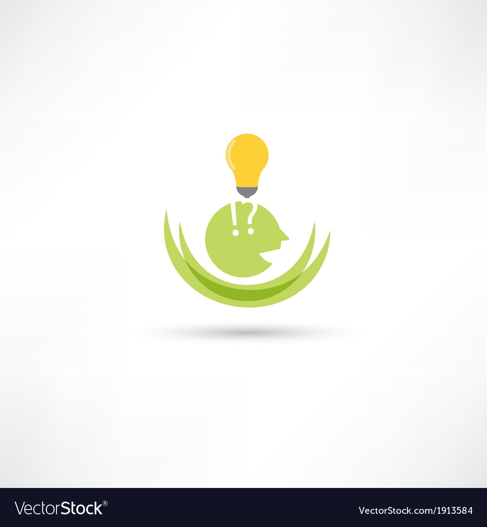 Somebody with lamp vector image
