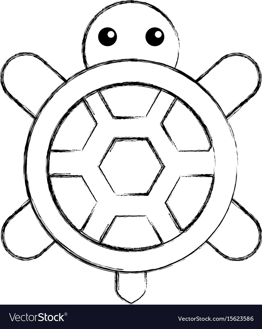 Cute turtle isolated icon royalty free vector image cute turtle isolated icon vector image biocorpaavc