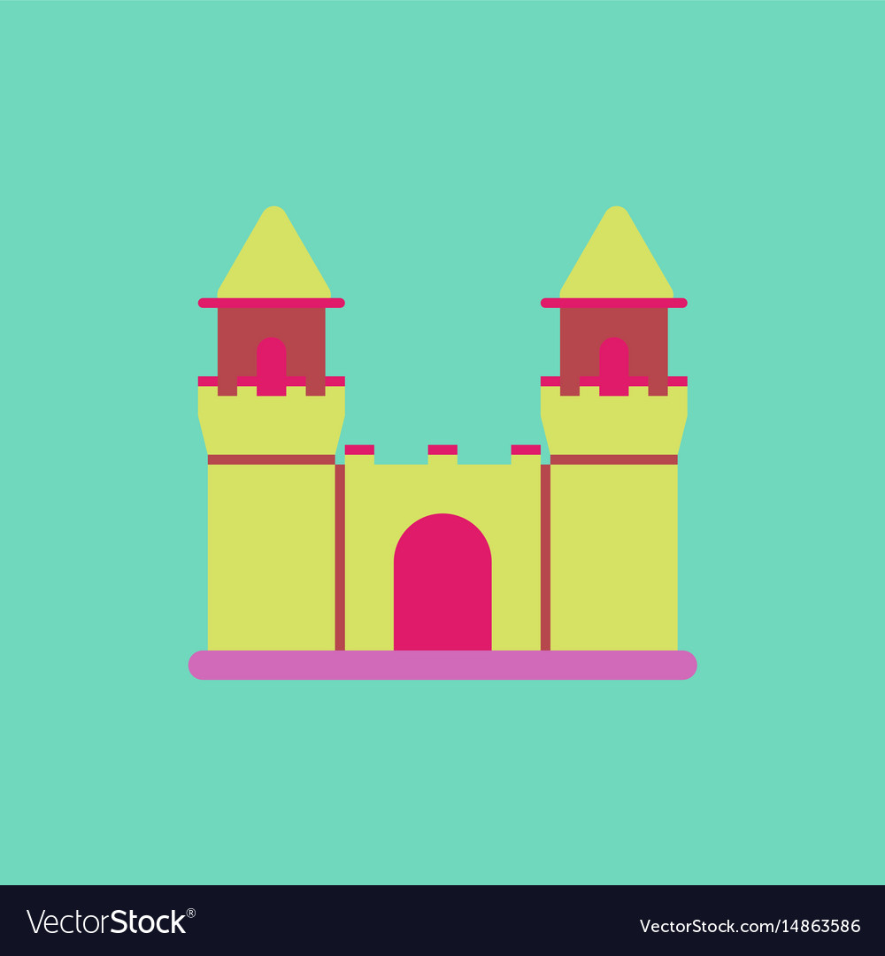 Summer beach scene vector stock vector colourbox - Medieval Castle