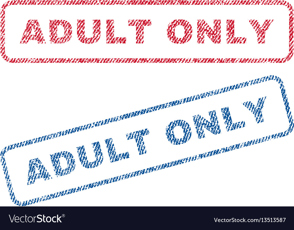 Adult only textile stamps vector image