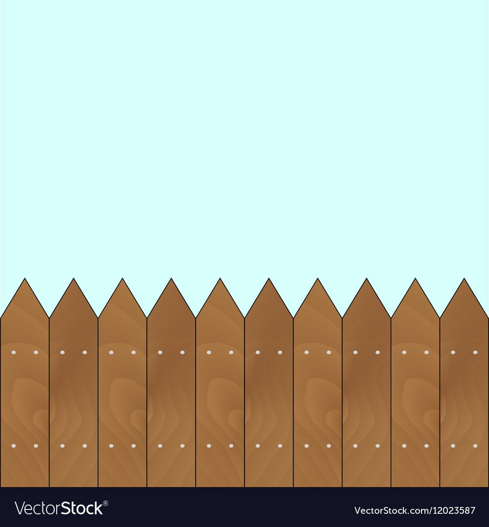 Banner with sharp wooden fence vector image