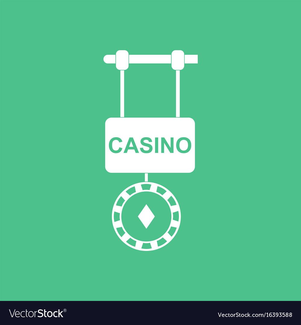 Casino logo template poster Online Casino