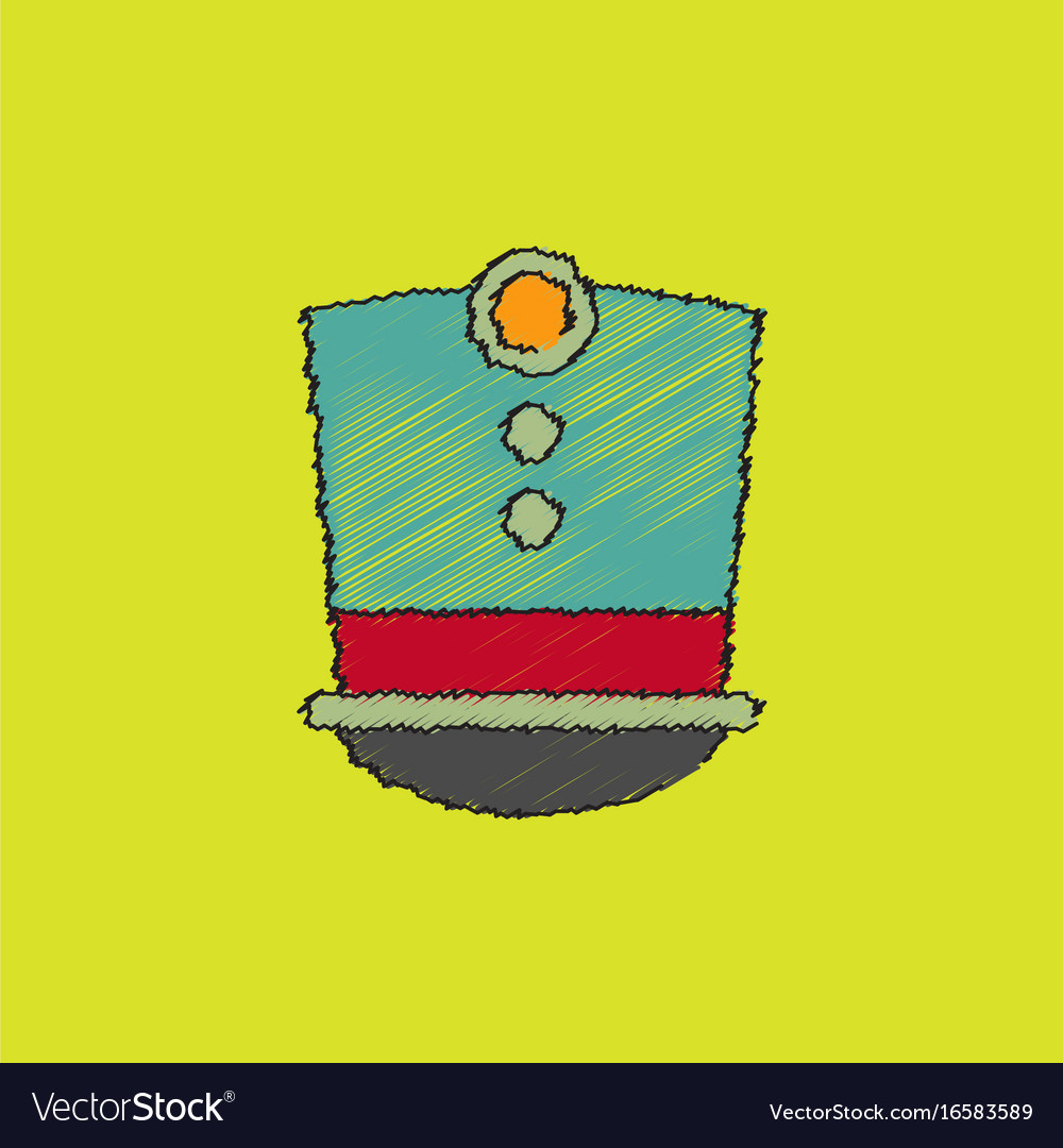 Magic hat in hatching style vector image