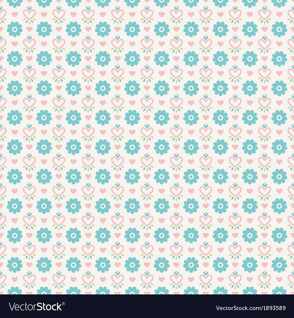 Pastel loving wedding seamless pattern tiling Vector Image