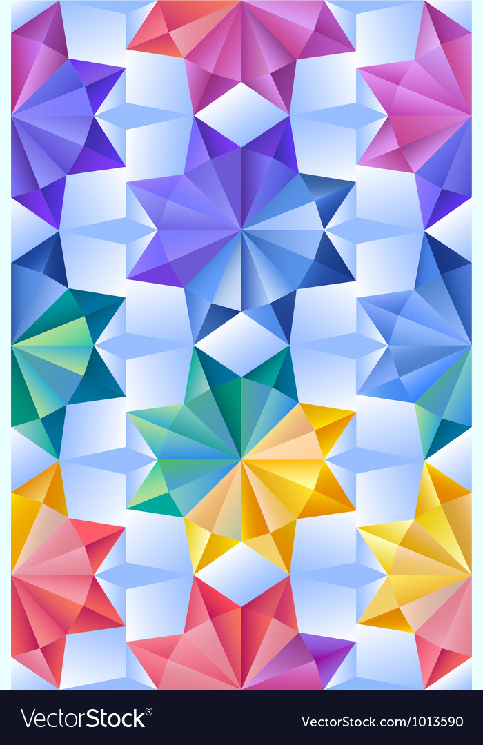 Abstract geometric seamless background vector image