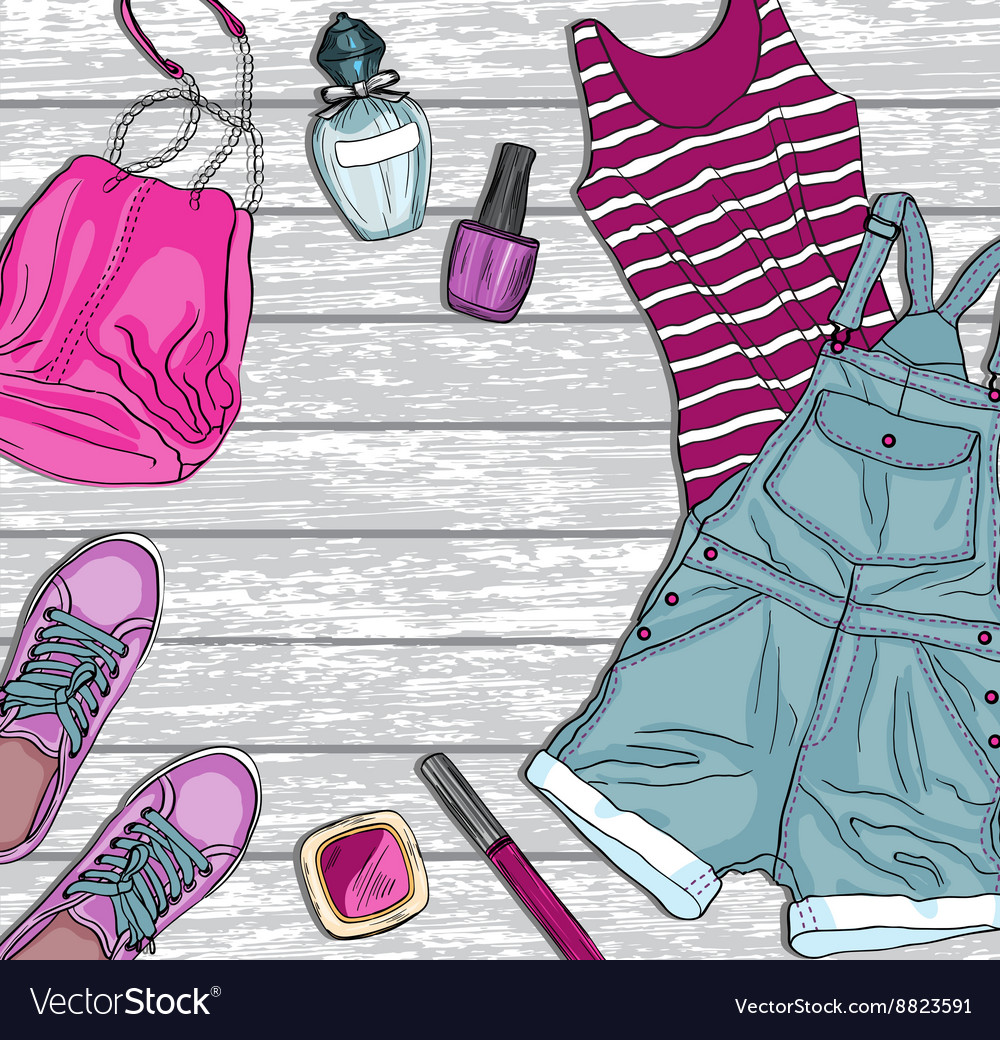 Cloth fashion design background
