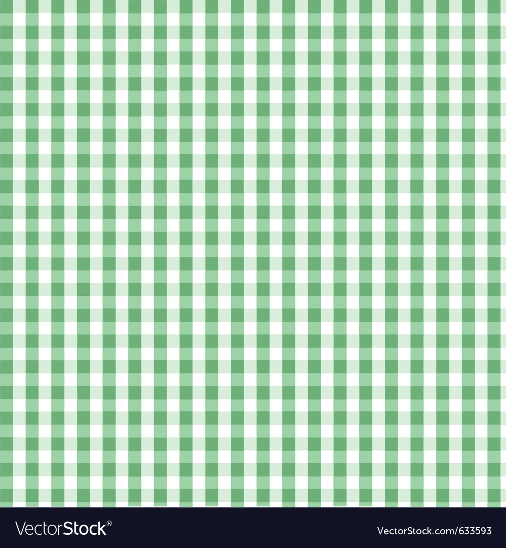 Seamless green plaid pattern vector image